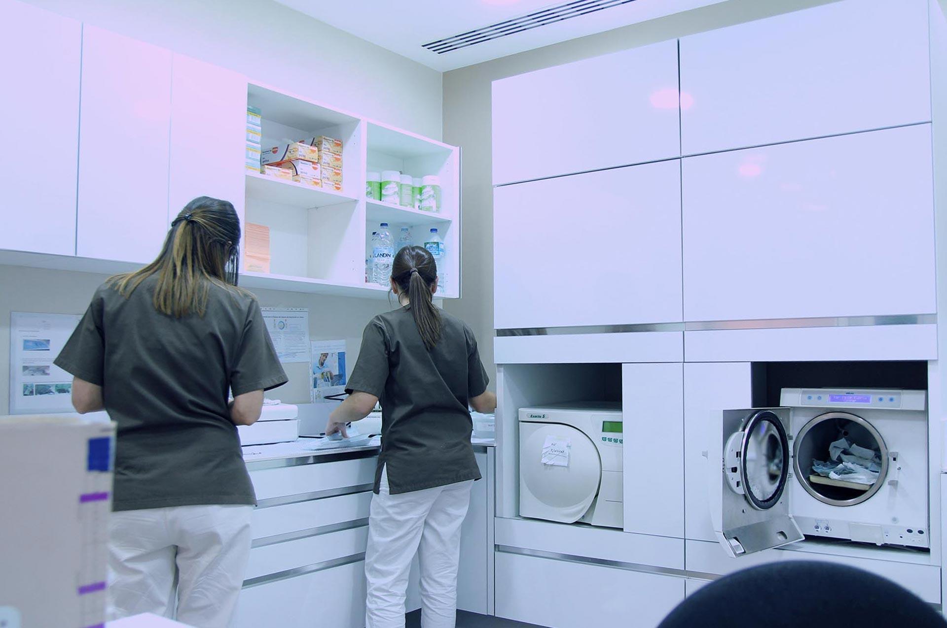 Sala de esterilizacion Clinica-Blanco Ramos